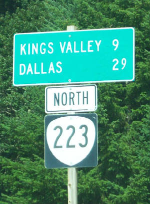 Kings Valley Sign