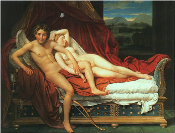 EROS with Stuck Wing, painting by Jacques Louis David